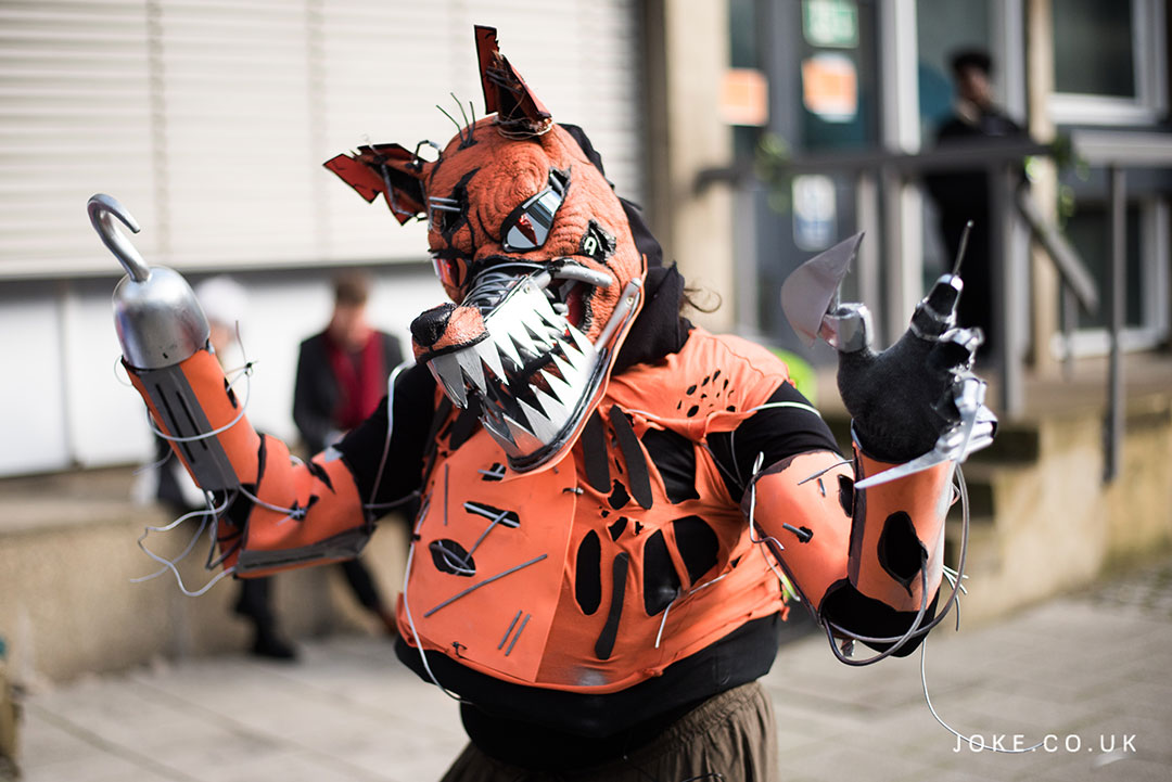 DelDev as Foxy from Five Nights At Freddy's at London Anime & Gaming Con
